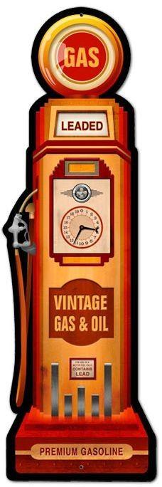 Blechschild Gas Pump-D0548
