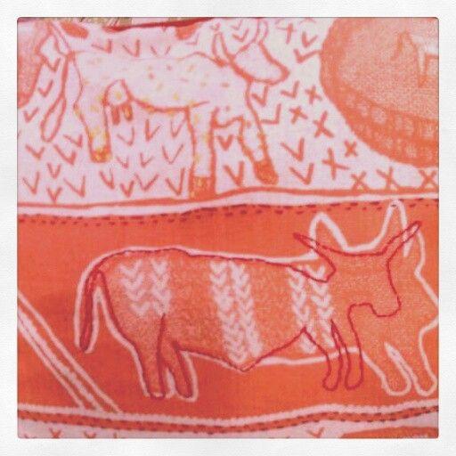 Embroidered burnt orange Kwantu 2014