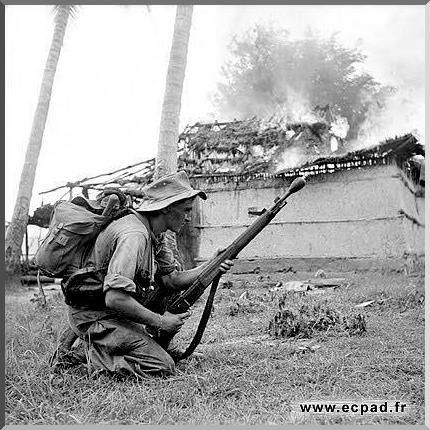 The Battle of Dien Bien Phu, 1954, in which the Vietminh defeated the French in Vietnam, and led to increasing American involvement. Dien Bien Phu was a trailer to the Vietnam war. Rare pictures, events.