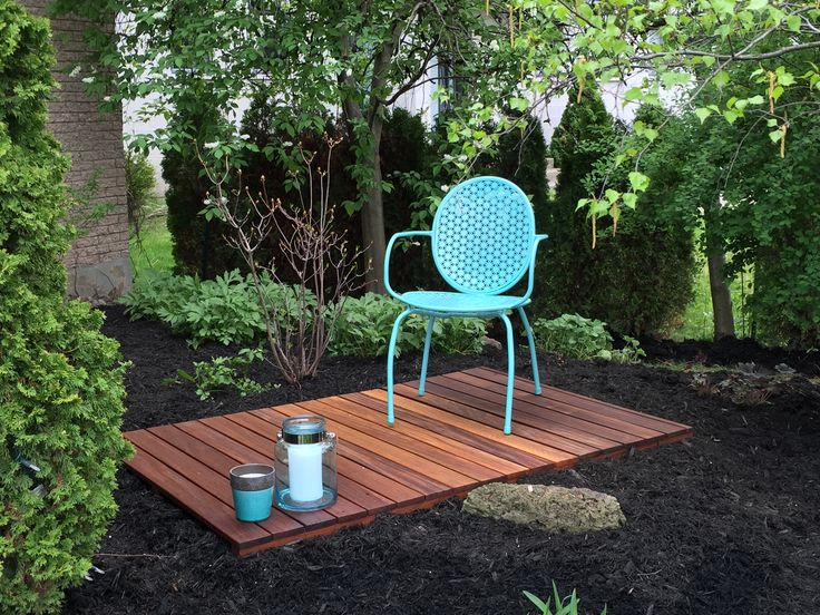 Cumaru deck tile to create a relaxing area in the yard. www.decktogo.com