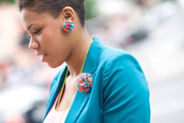 BIMABEJBE multicolored clip earrings. €11,00, via Etsy.