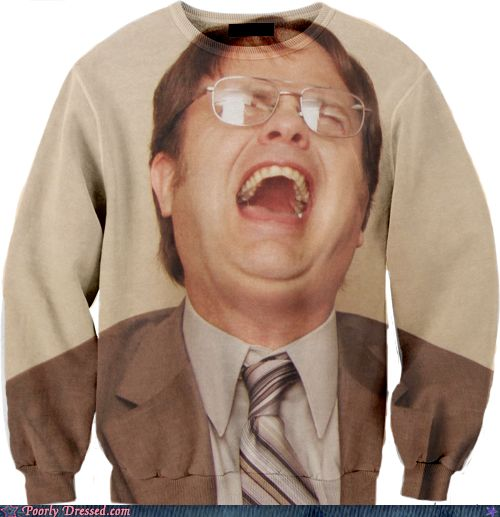 Dwight Sweater. Lolz: Birthday Presents, Christmas Presents, My Life, Funny, Christmas Sweaters, The Offices, Sweatshirts, Closet, Christmas Gifts