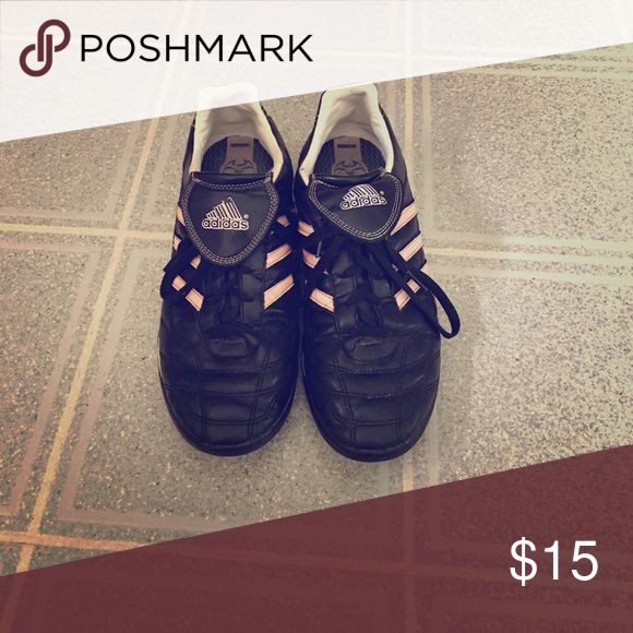 Women's adidas indoor soccer shoes Black and pink Adidas soccer shoes adidas Shoes Athletic Shoes
