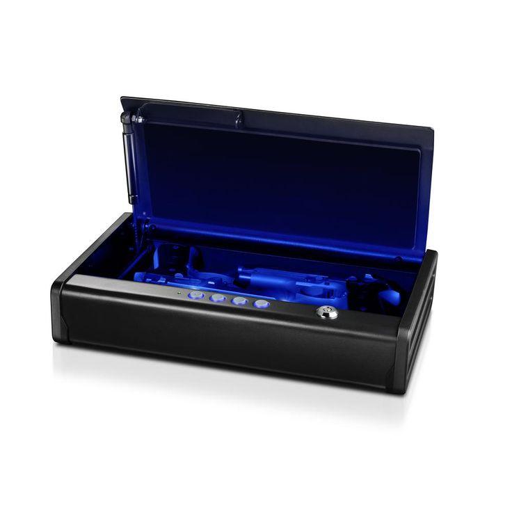2-Gun Quick Access Electronic Combination Lock Pistol Safe with Interior LED Light, Black