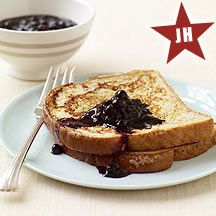 French Toast with Blueberry Sauce