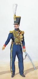 1828, Artillerie à Cheval. Adjudant Sous officier, chef (2)