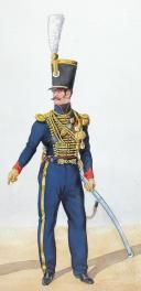 1828, Artillerie à Cheval. Adjudant Sous officier, chef (2)