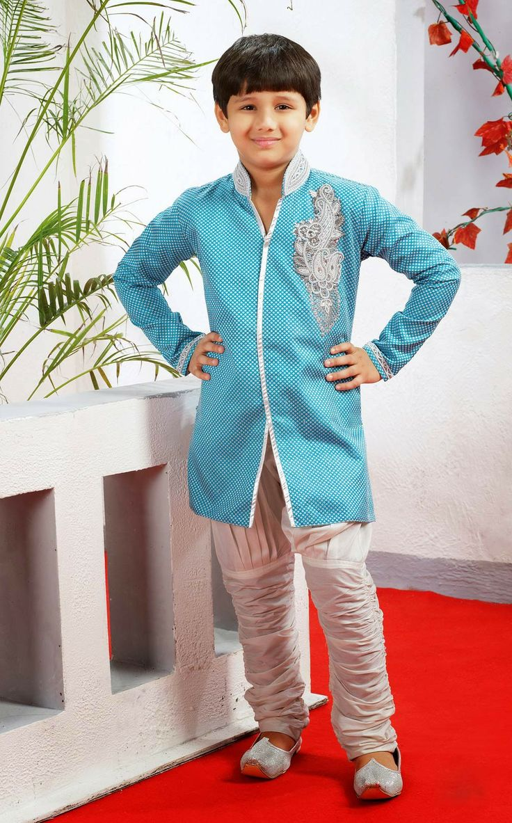 Buy online Designer kurta sherwani with breeches for boys . Shop at - http://www.gravity-fashion.com/15880-designer-kurta-sherwani-with-breeches-for-boys.html
