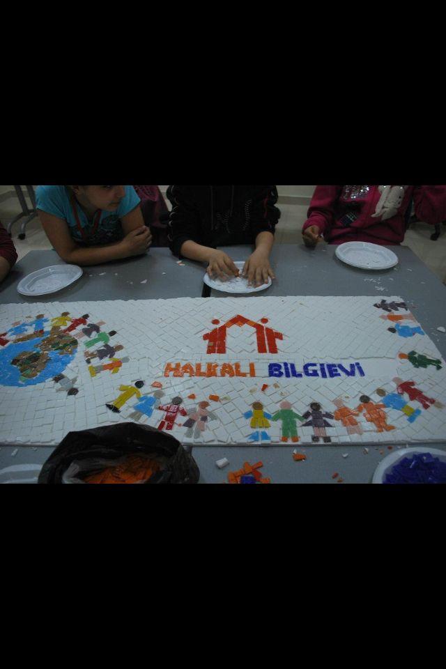Mosaic with children