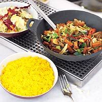 Recept - Pittige tofu met gele rijst - Allerhande