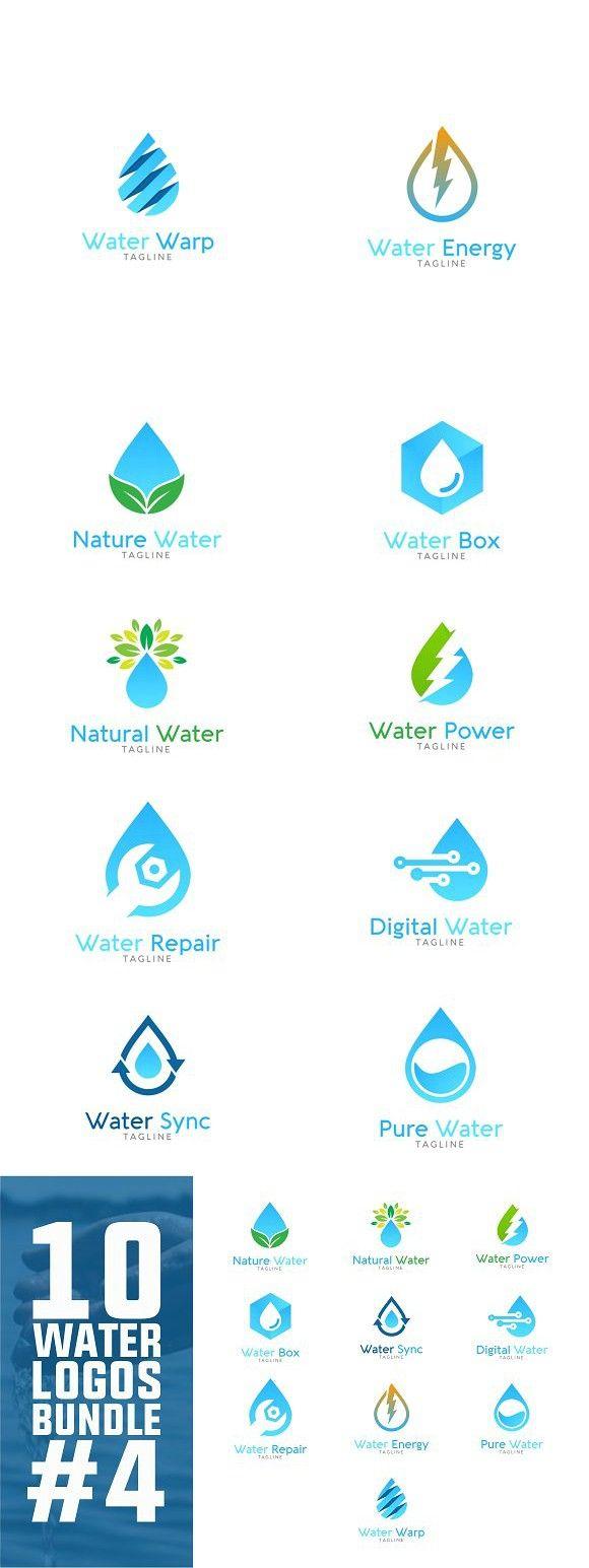 10 Water Logo Bundle 4 Water Logo Logo Bundle Power Logo