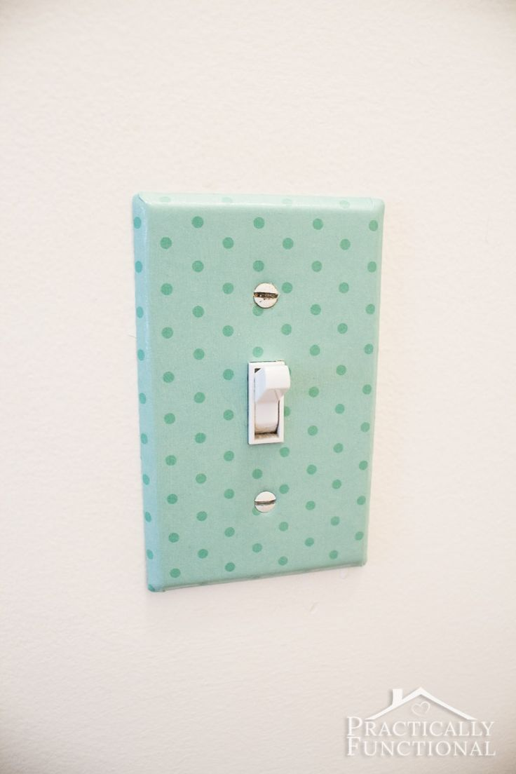 How cool is this decorative light switch cover?! All you need is paper and Mod Podge!