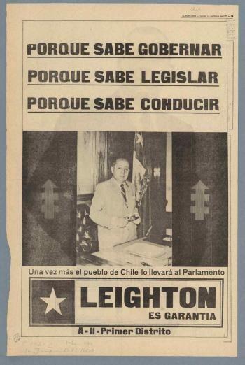 Bernardo Leighton, Partido Demócrata Cristiano. Elecciones parlamentarias 1973