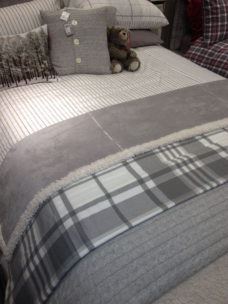 Grey tartan throw John Lewis