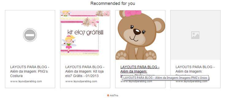 Links de redes sociais, recomendação de postagem e muito mais...