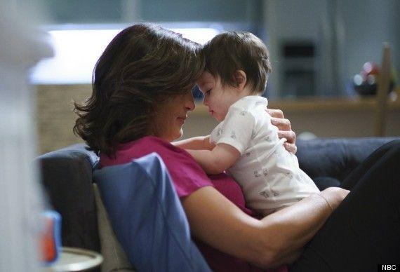 Olivia Benson & baby, Noah.   AKA Mariska Hargitay