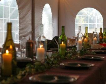 Wine Wedding Table Scape