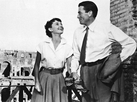 """Audrey Hepburn and Gregory Peck in """"Roman Holiday."""""""