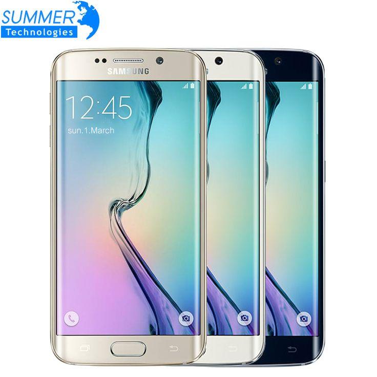 "D'origine Samsung Galaxy S6 G920F G925F Bord 5.1 ""Octa Core 3 GB RAM 32 GB ROM 16MP GPS NFC Unlocked Remise À Neuf Mobile Téléphone"
