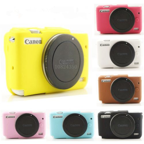 High Quality Nice Soft Silicone Rubber Camera Protective Body Cover Case Skin Camera case bag for canon EOS M10 Leather Case Bag