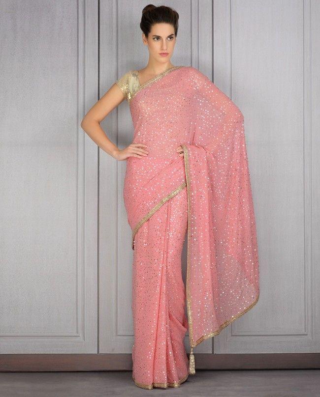 Manish Malhotra Latest Sarees Collection 2016-2017   GalStyles.com