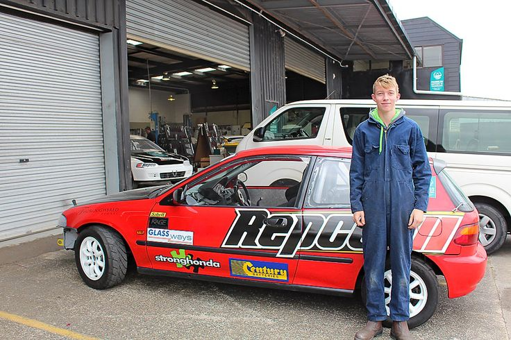 Pukekohe MIT student powers ahead - Connor Adam is an 18 year old with a bright motoring future ahead of him.
