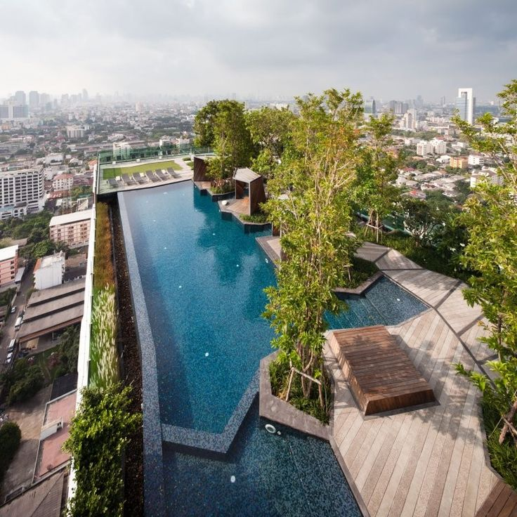 1000 images about roof gardens and living roofs on for Rooftop pool design