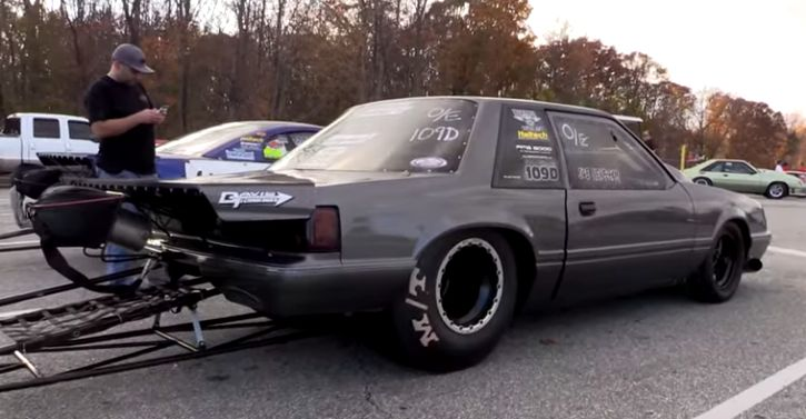 Joe Newsham's Turbo Fox Body Mustang! Ford's Fox Body platform is not the best in terms of design, but certainly is very popular in the drag racing world