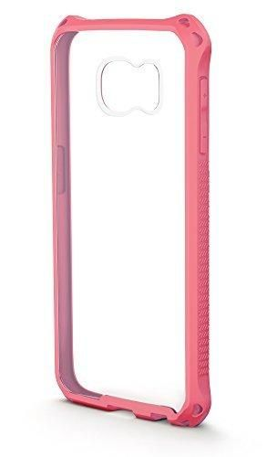 Galaxy S6 Case BUDDIBOX [Clear Corner] Slim Fit Clear Soft Cushion Drop Protection Case for Samsung Galaxy S6[Remove Scratched Film](Pink)