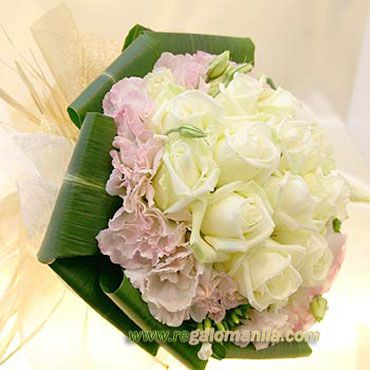 White roses is a symbol for true love,  Purity, Innocence, Sympathy, Spirituality. And also known as the bridal rose, the white rose is a traditional wedding flower. If you planning to give a flowers to your Loved ones her in the Philippines this beautiful and glamorous white rose bouquet is the perfect flowers. http://regalomanila.com/