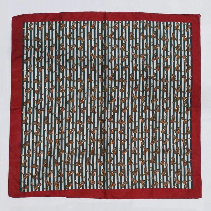 Vintage tennis rackets scarf