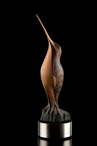 Standing Tall Snipe by Rex Homan, Māori artist (KR150510)