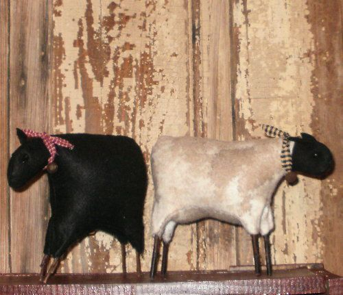 Sheep Shelf Sitters - Ewe-Sheep Figure, Primitive Sheep, Country Sheep, Stuffed Sheep, Sheep figurine, Sheep Sitter, Ewe, Stuffed Ewe. Ewe F...