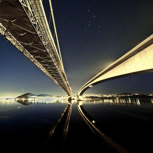 Kristiansand Twin Bridges, Norway
