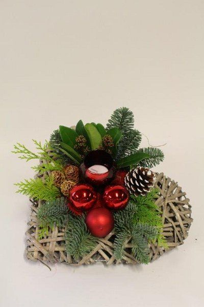 jule dekoration - hjerte med lys og kugler - kerststukken 2013 013.jpg