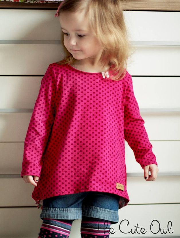 Nähanleitung: Kinder Longshirt, Kindermode / diy sewing instruction: kids longshirt, kid's fashion made by Petit et Jolie via DaWanda.com