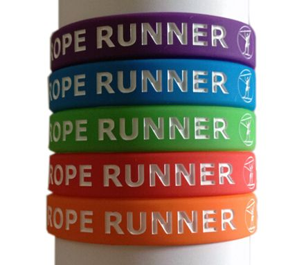 Silicone wristbands for Rope Runners from Lancaster Printing - http://www.lancasterprinting.co.uk