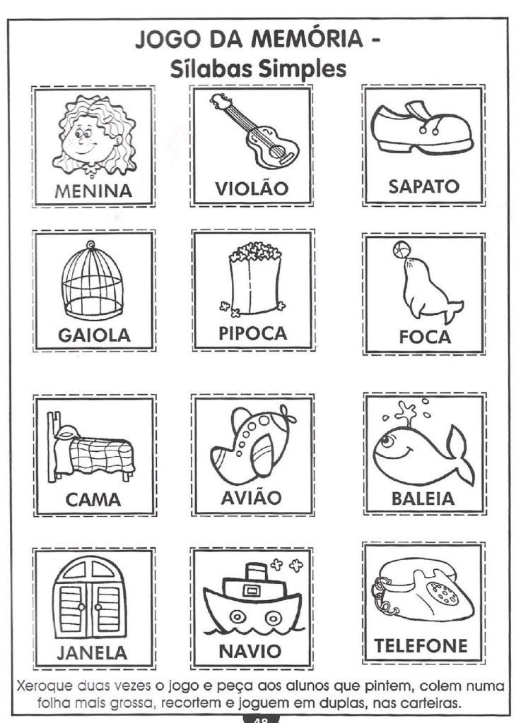 40 Jogos Da Memoria Para Imprimir Educacao Infantil E Maternal Online Cursos Gratuitos Educacao Infantil Joguinho Da Memoria Jogos