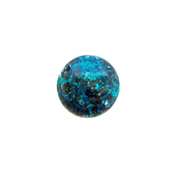 Chrysocolla round cabochon 31.90 carat by SARAHHUGHESfinegems