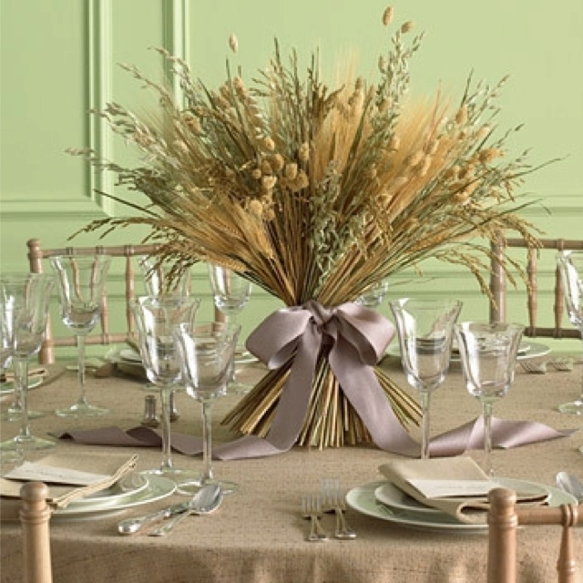 Wheat centre piece Oh How I love thee
