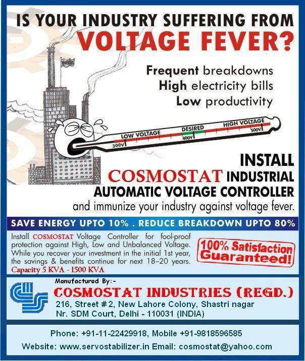 Servo voltage stabilizer manufacturer in delhi call 9818596585