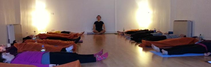 Deep Relaxation on YTTC yoga teacher training course. www.yogaireland.com