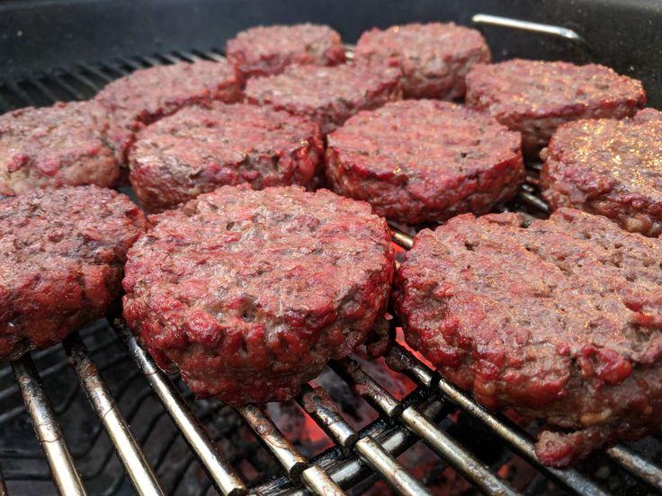 Cherry smoked chuck steak burgers.