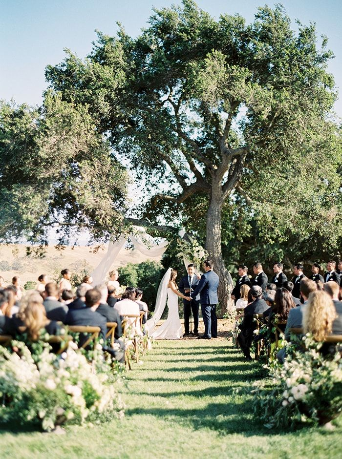 A wedding ceremony with natural beauty and loads of style.