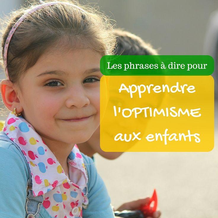 Apprendre l'optimisme aux enfants