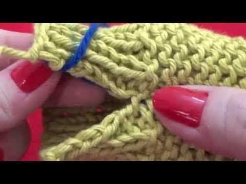 Costura Ponto Bickford, em cordão de tricô e barra - Costuras módulo 2 {Tricota Curitiba} - YouTube