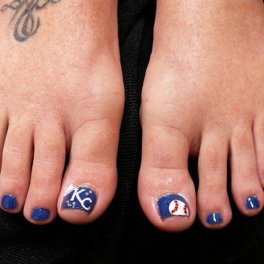 17 beste ideen over baseball toes op pinterest honkbal nagel kc royals toes baseball prinsesfo Images