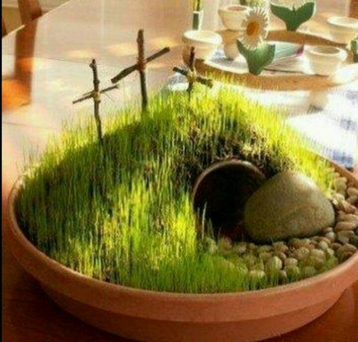 17 best images about sunday school easter ideas on for Easter garden designs
