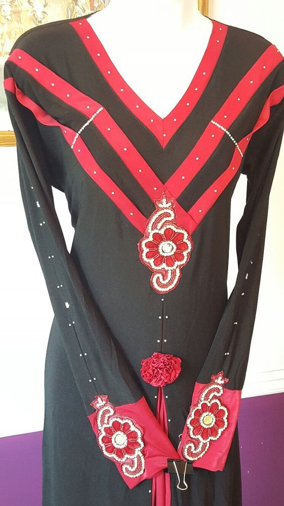 DUBAI ABAYA WITH MATCHING SCARF ISLAMIC MUSLIM CLOTHING WEAR KAFTAN JILBAB BURQA #KaftanBURQUAS