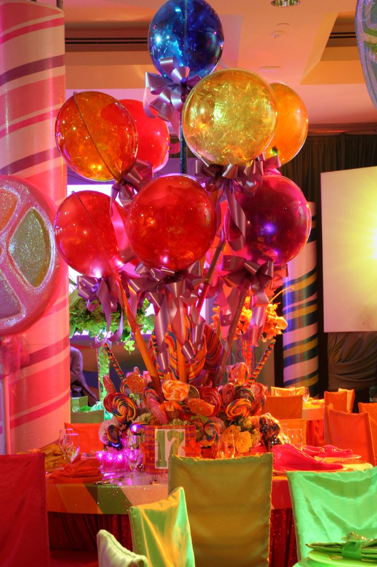 Bar And Bat Mitzvah Gallery 187 Balloon Bouquets With Spheres Diamond - Charlie and the chocolate factory willy wonka bat mitzvah decor by syzygy event productions www